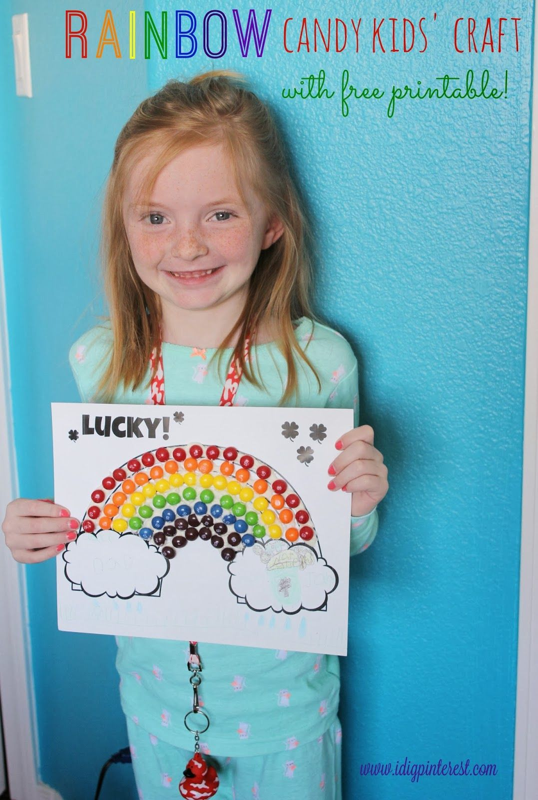 St Patrick S Day Rainbow Candy Kids Craft Amp Free Printable Coloring Page I Dig Pinterest And