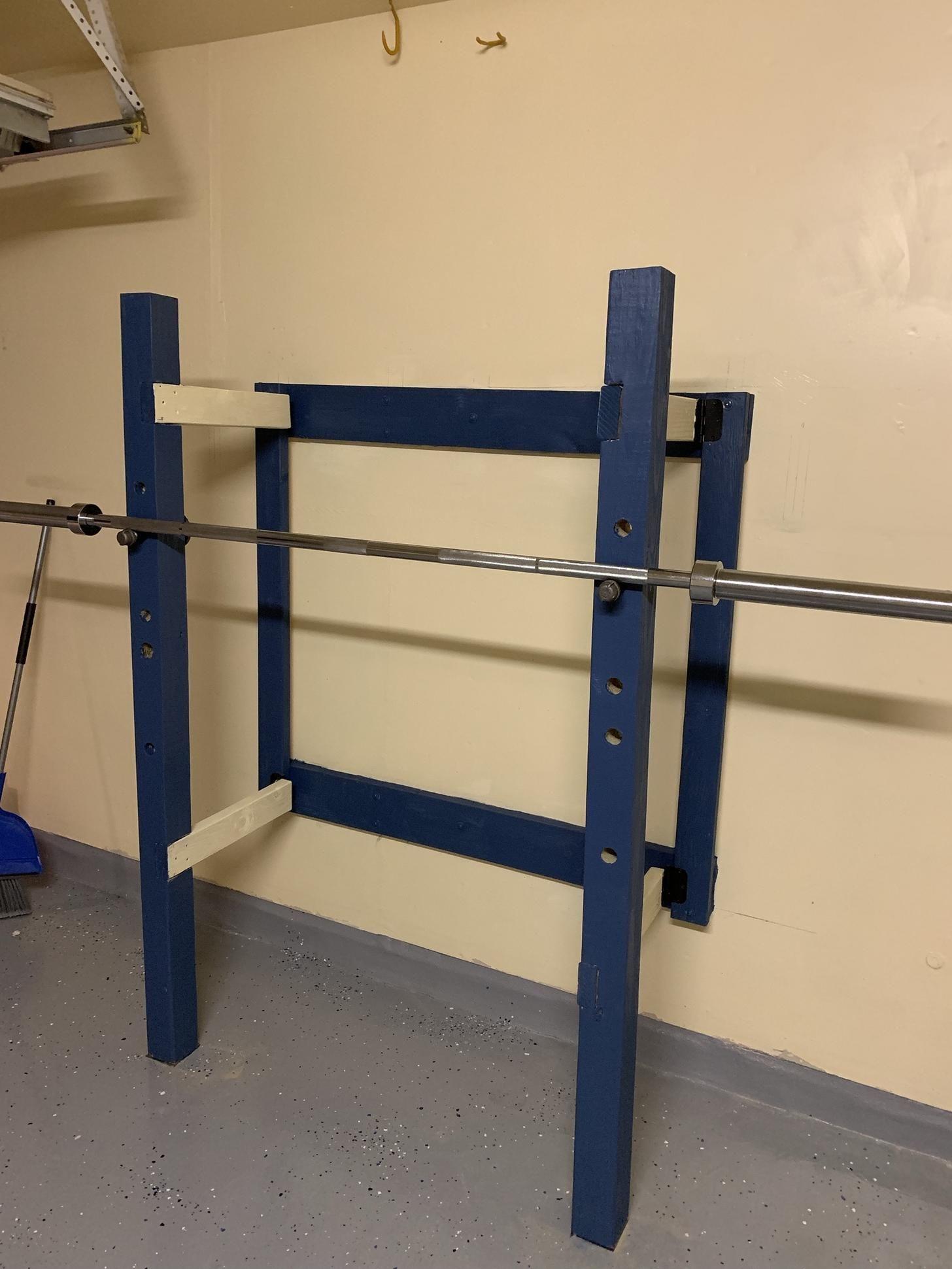 Diy folding squat rack imgur diy home gym squat rack