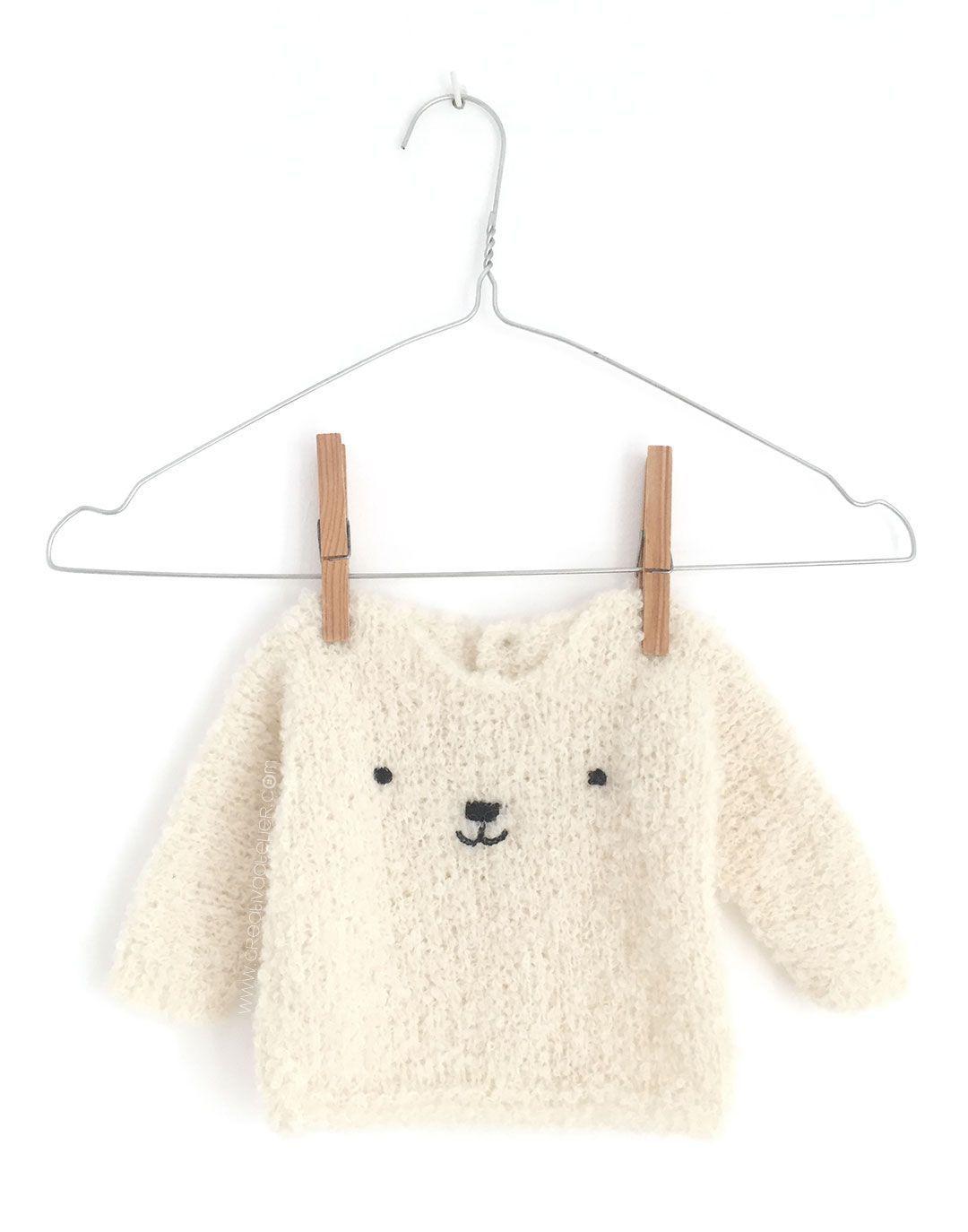 Jersey de Bebé de Punto - Teddy Baby [ Tutorial y Patrón Gratis ...