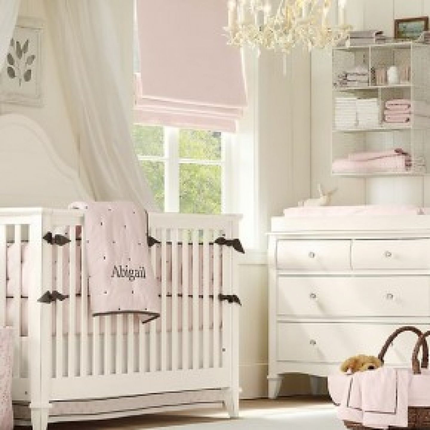 Beautiful Baby Rooms: Attractive White Oak Convertible Crib With Toddler Rail