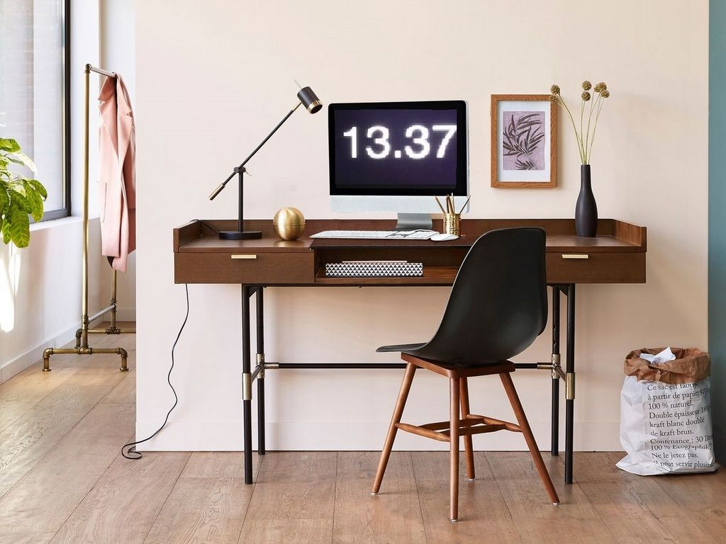 Un bureau en mode vintage room