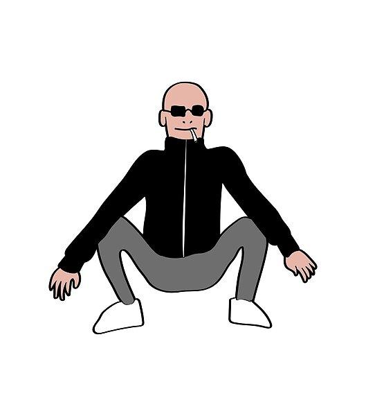 Funny Design With A Squating Gopnik Perfect For All Slavs Who Squat Proper Correct Way Funny Design Squats Tee Design