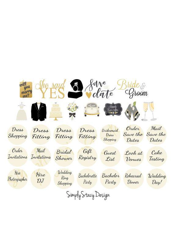 printable planner stickers erin condren wedding countdown