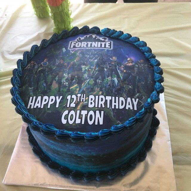 Details About Fortnite Edible Personalized Birthday Cake Topper