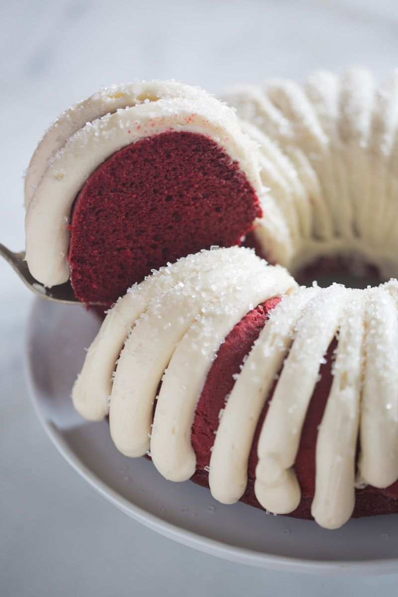 Red Velvet Bundt Cake with cream cheese frosting   Tastes Better From Scratch