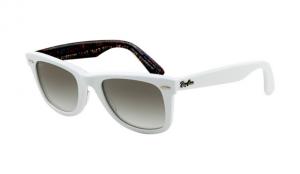 Ray Ban Rb2140 Wayfarer Sunglasses Top Texture On White Frame Crystal Gradient Light Grey Lens Ray Ban Sunglasses Outlet Wayfarer Sunglasses Ray Bans