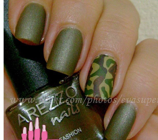 #army #nails - Glitter Themed Camo Nails - Great Nail Art Tutorial- OMG YESSSSS