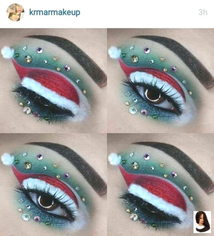 Sombra de ojos navideña – modelos de vestir