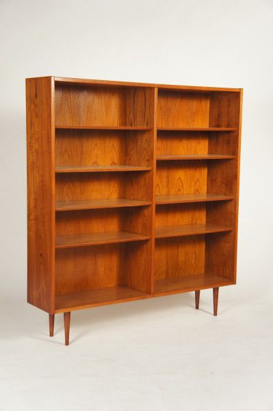 Poul Hundevad; Teak Bookcase, 1960s.