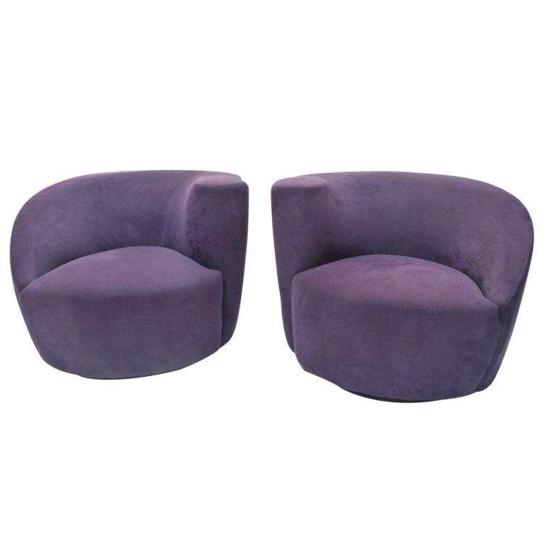 1stdibs | Pair Of Vladimir Kagan Nautilus Lounge Chairs