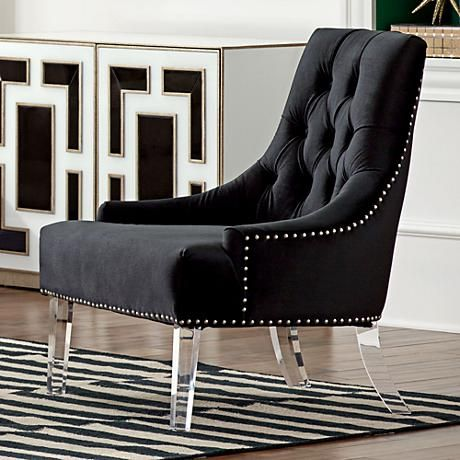 Excellent Reese Studio Charcoal High Back Accent Chair 8G312 Ibusinesslaw Wood Chair Design Ideas Ibusinesslaworg