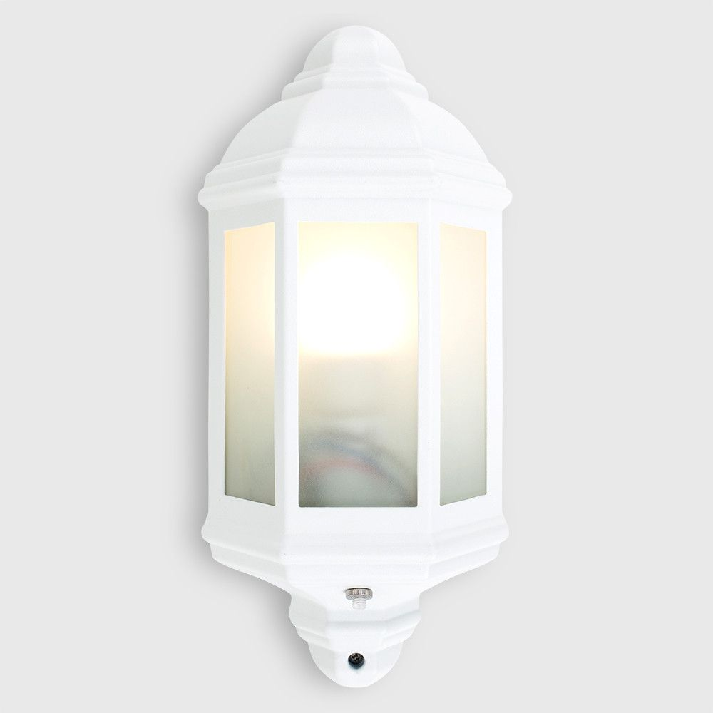 Wiltshire Outdoor Wall Lantern With Dusk Til Dawn Sensor In White Outdoor Wall Lantern Wall Lantern Outdoor Walls