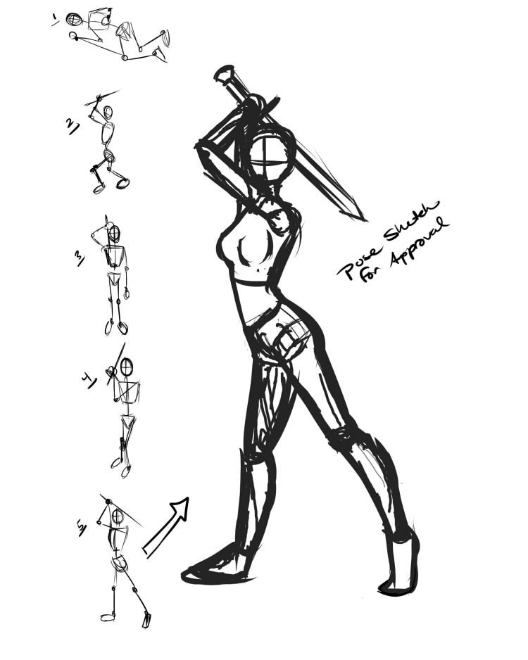 Fighter pose female | Character concepts in 2019 | Drawings, Figure