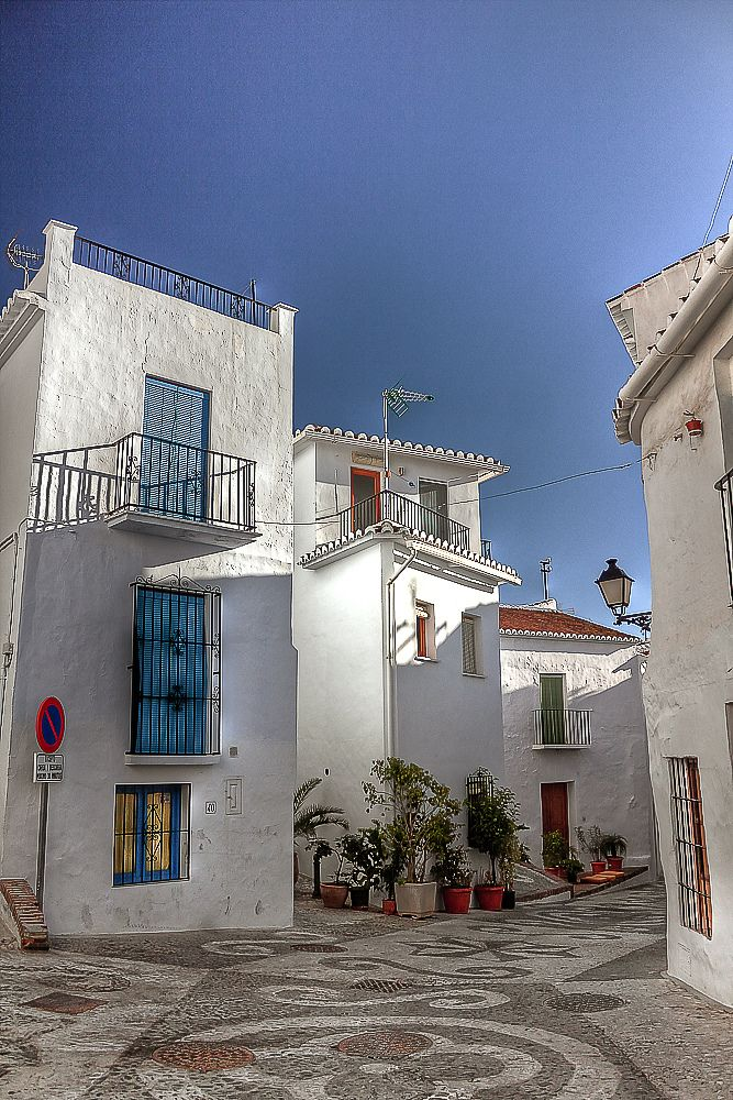 """""""Pueblos blancos"""" Whitewashed villages in Andalucia."""