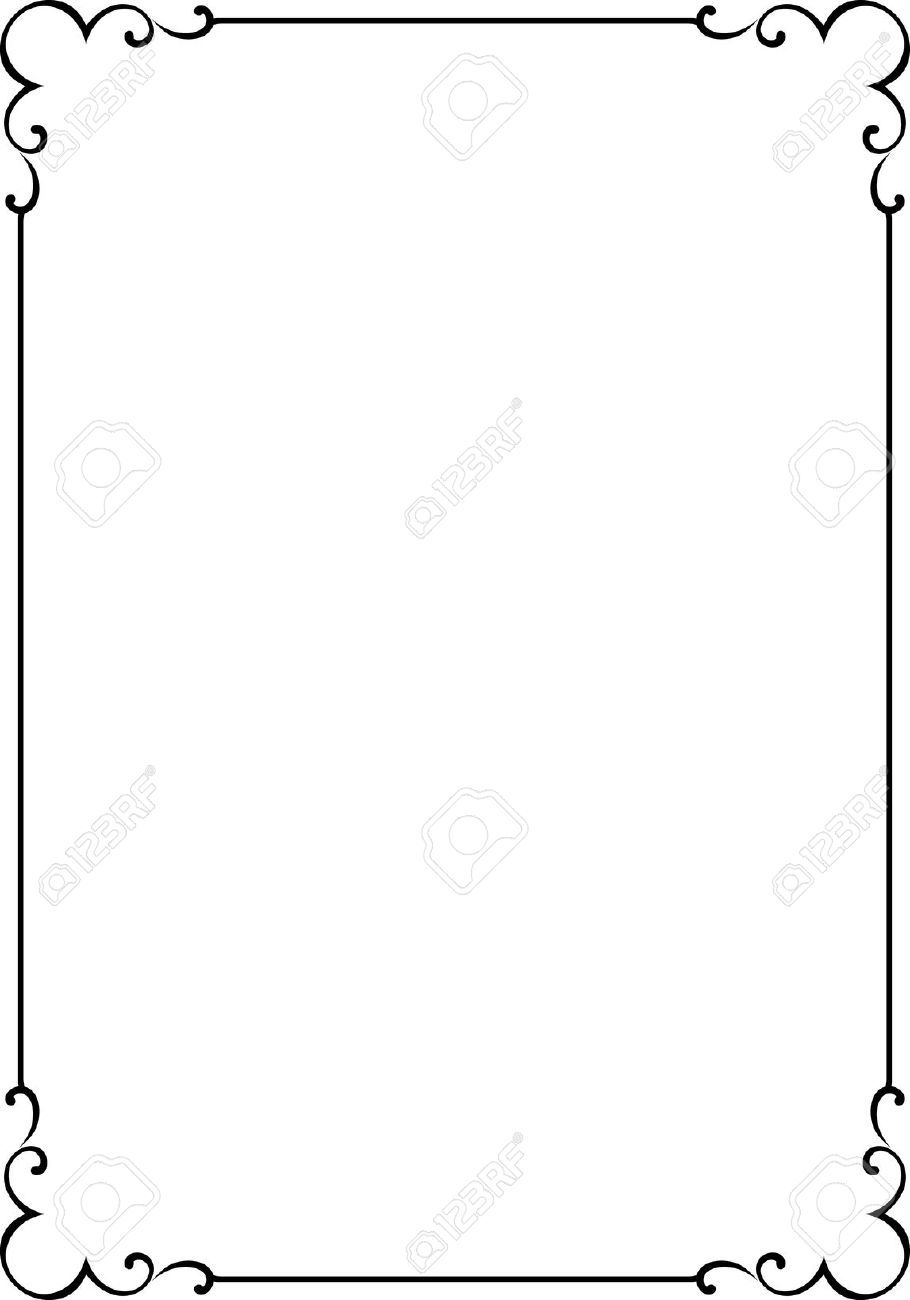 4960557 vector decorative frame stock vector border simple
