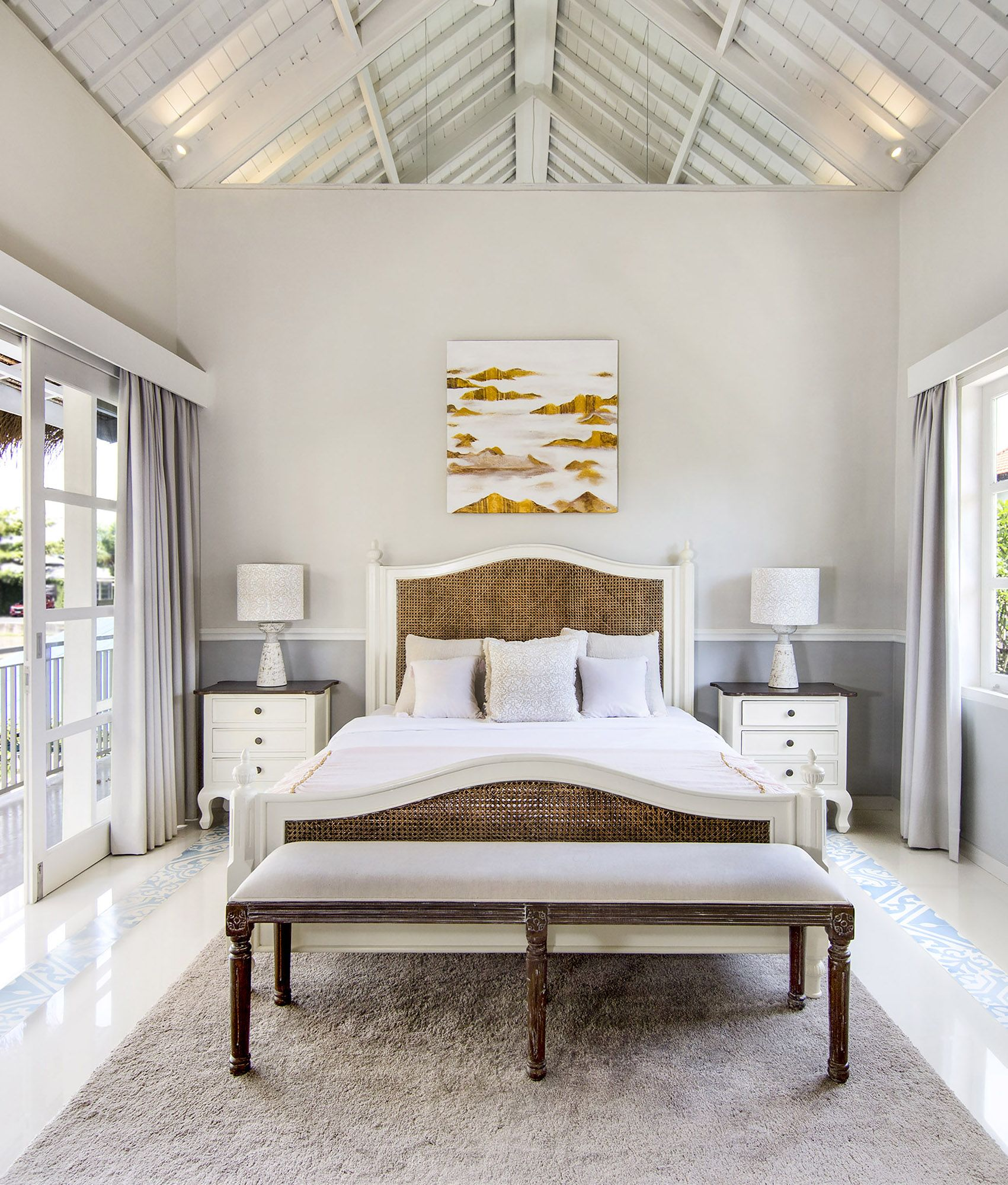 Weekend dreams brought to life by the Britta Bed.  Beautiful bedroom set up by our client for Villa Sasando, Bali.   #bedroominspiration #designinspo #bedroomgoals