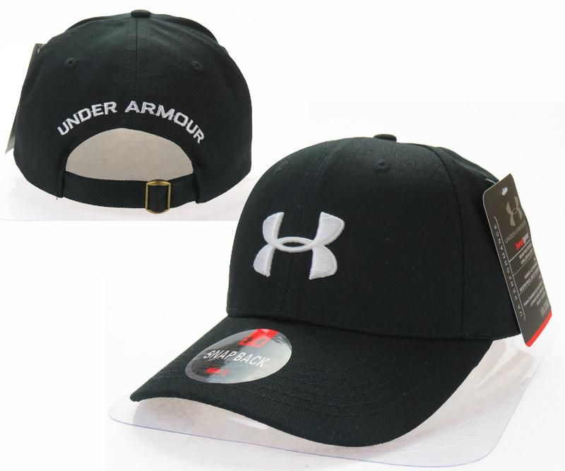 c3e6eb05298 Mens   Womens Under Armour The UA 3D Embroidery Logo 6 Panel Strap Back  Baseball Adjustable Polo Cap - Black   White