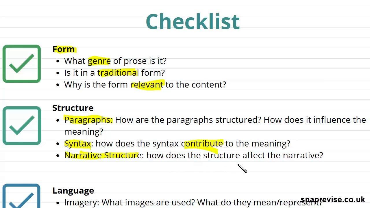 Unseen Prose Part 1 A Level English Literature Aqa Ocr Edexcel Essay Structure