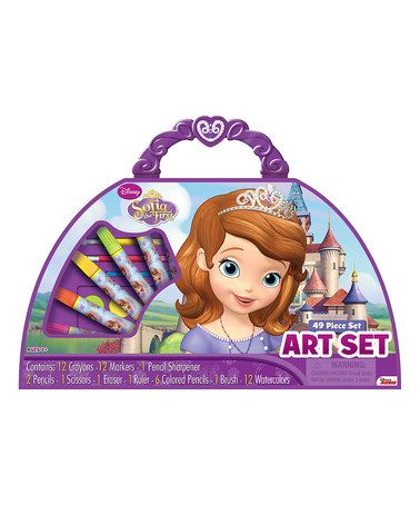 This Disney Sofia The First Purse Art Set by Sofia the First is perfect! #zulilyfinds
