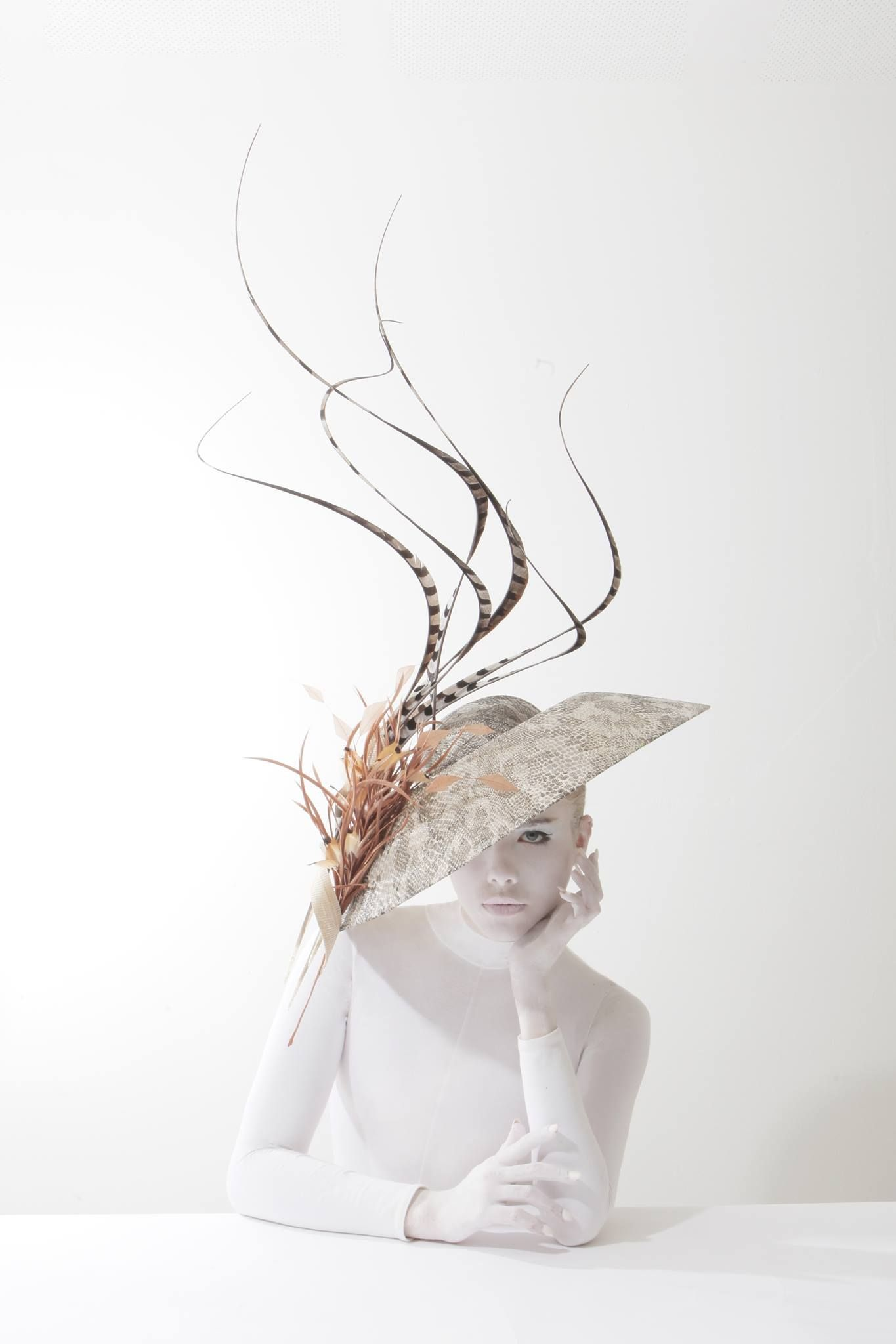 Hat by Philip Treacy from the Spring Summer 2014 collection. Picture by Kurtiss Lloyd. Model Alexandra Moss