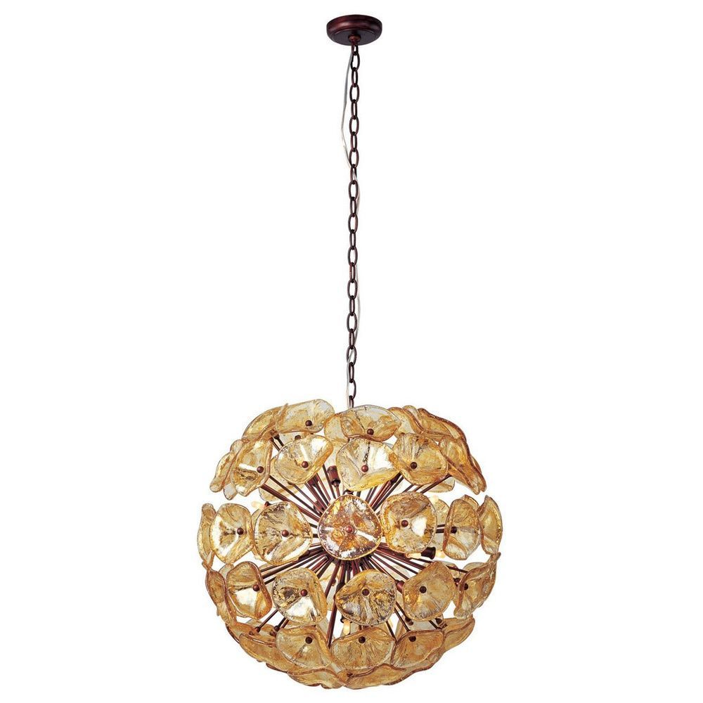 This Cassini single-pendant fixture is an elegant way to draw attention to your space. Twenty Murano glass crystal petals are delicately affixed together to form a gorgeous sphere of light.