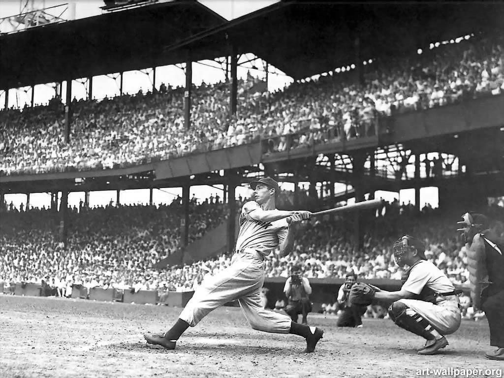 The classic DiMaggio swing. He was perhaps the greatest right ...