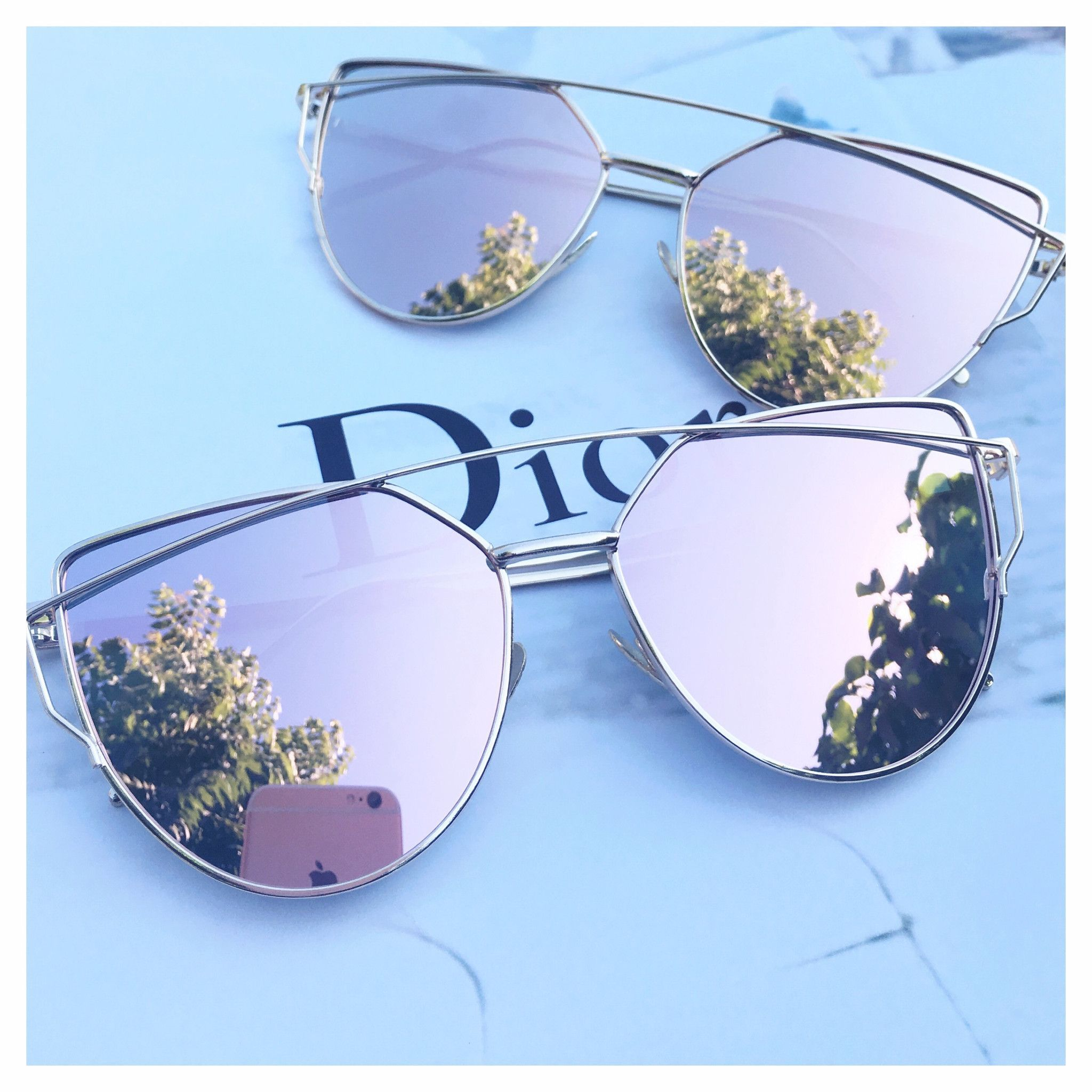 7e2d249bba Rose Gold Mirrored Sunglasses Cat Sunglasses