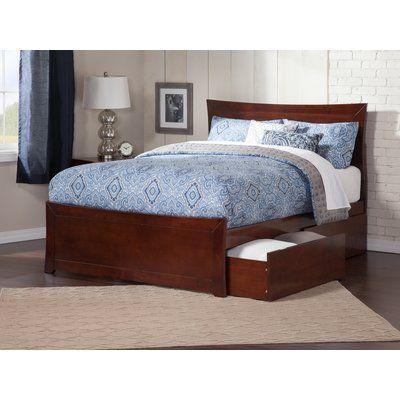 Viv Rae Maryanne Storage Platform Bed Size Full Color Walnut Atlantic Furniture Bed With Drawers Modern Bedroom Furniture