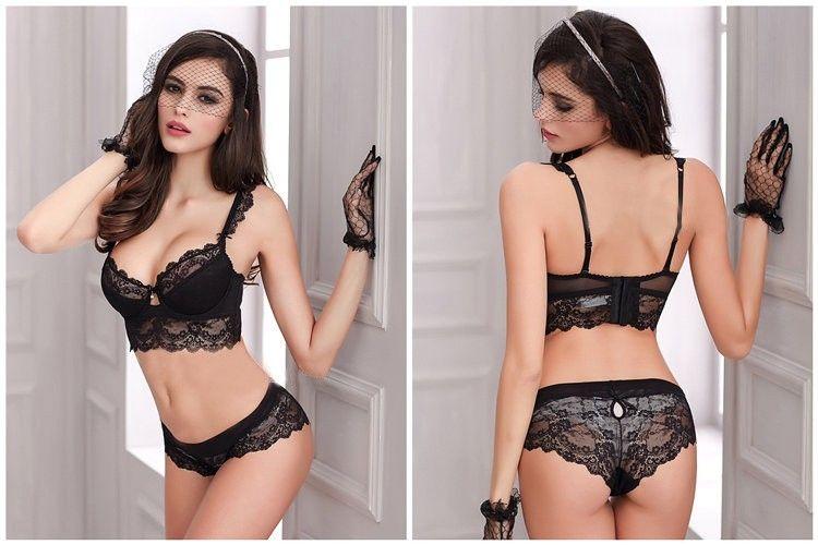 02273b46e4 Sexy Lingerie Lace Padded Bra Push Up Women Bra Sets  Lingerie  Bra   Underwear  Sleepwear