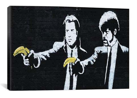 Pulp Fiction Bananas by Banksy  Giclee Poster
