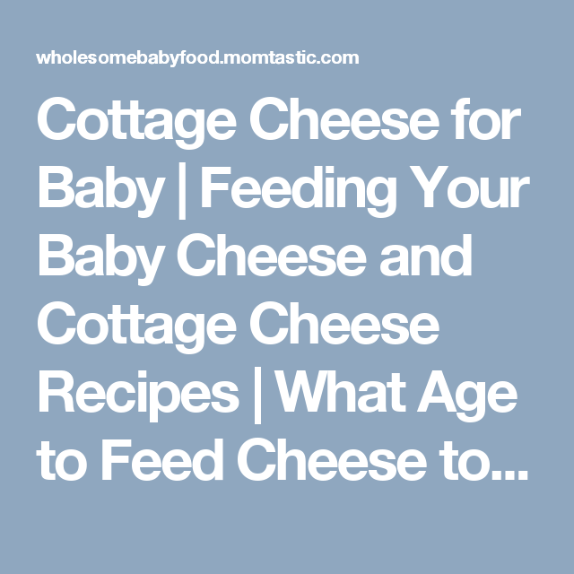 Cottage Cheese For Baby Feeding Your Baby Cheese And Cottage Cheese Recipes What Age To Feed Cheese To Baby Wholesome Homemade Baby Food Recipes Cottage Cheese Recipes Homemade