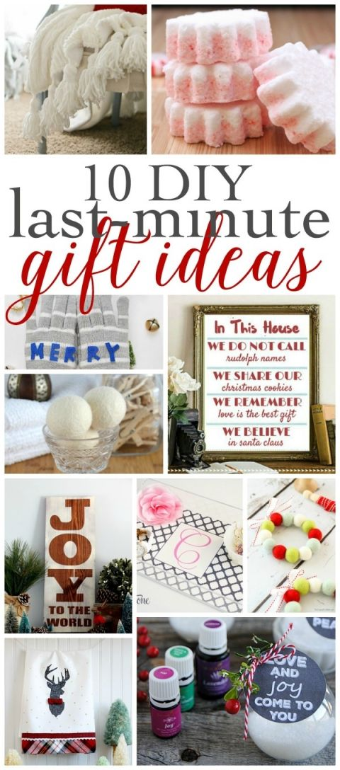 10 DIY Last-Minute Gift Ideas + a Giveaway Christmas Gifts