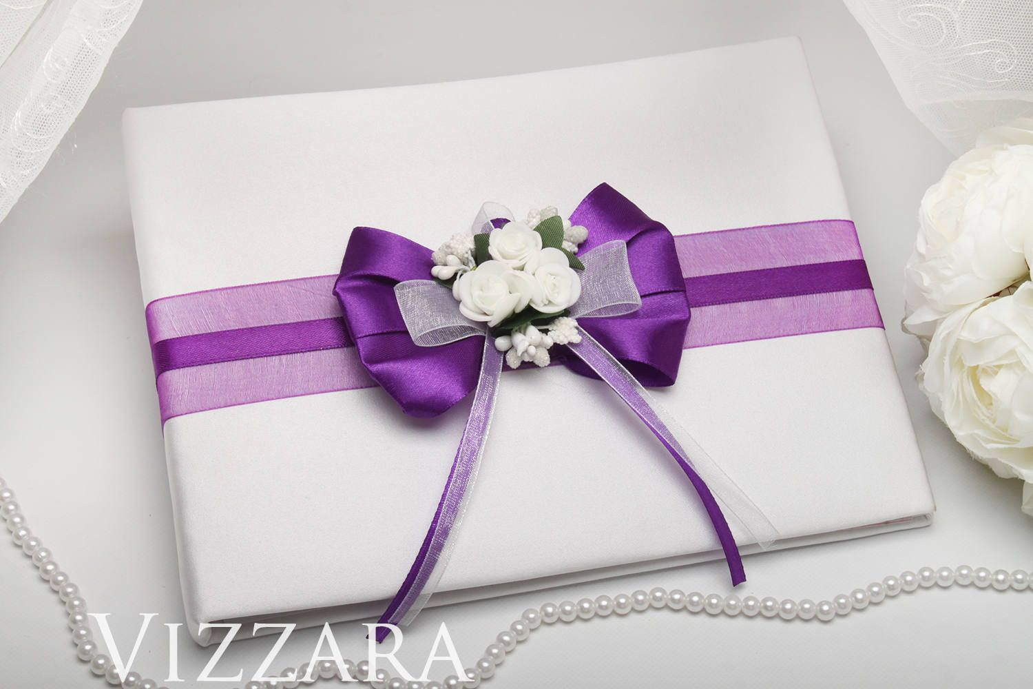 Weddings guest book Purple weddings Custom guest book Purple wedding ...