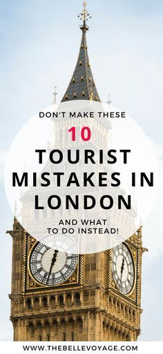 london england travel guide tourist mistakes