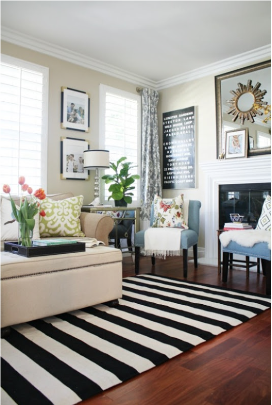 Stripes For All A Bold Black And White Stripe Rug Rugs In
