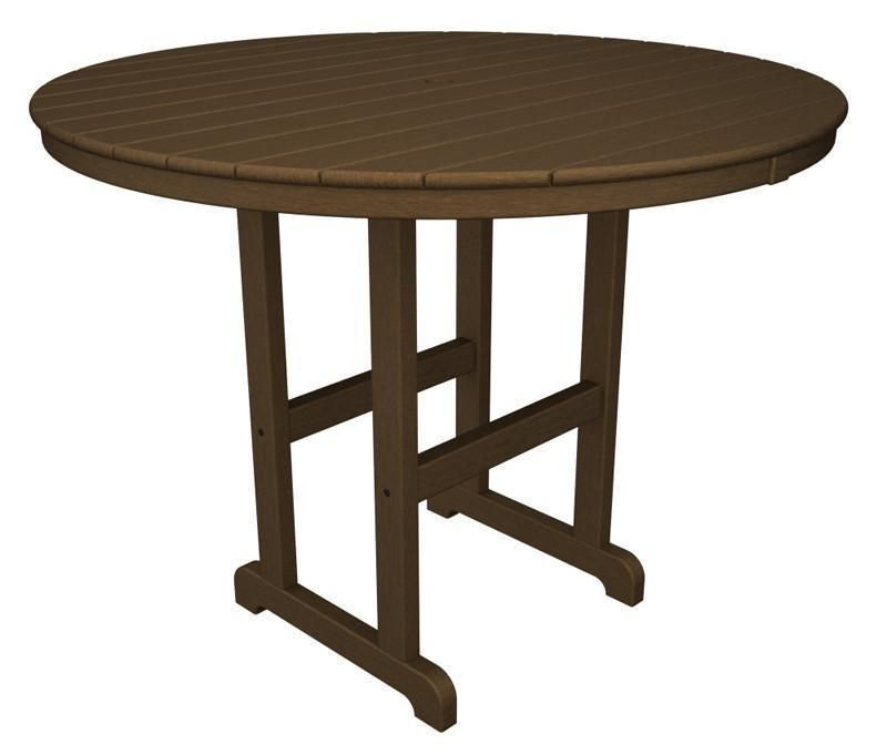Polywood Rrt248te Round 48 Counter Table In Teak Products