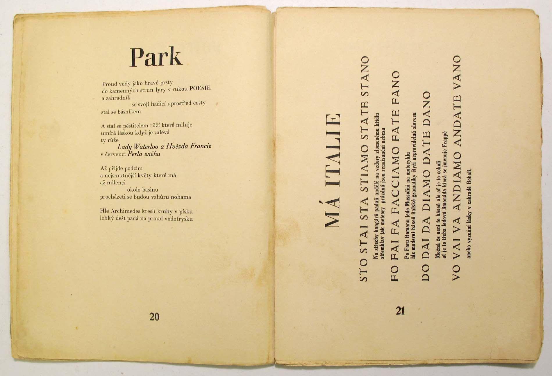 Jaroslav Seifert Na Vlnach Tsf Karel Teige 1925 Book Cover Fate Fano