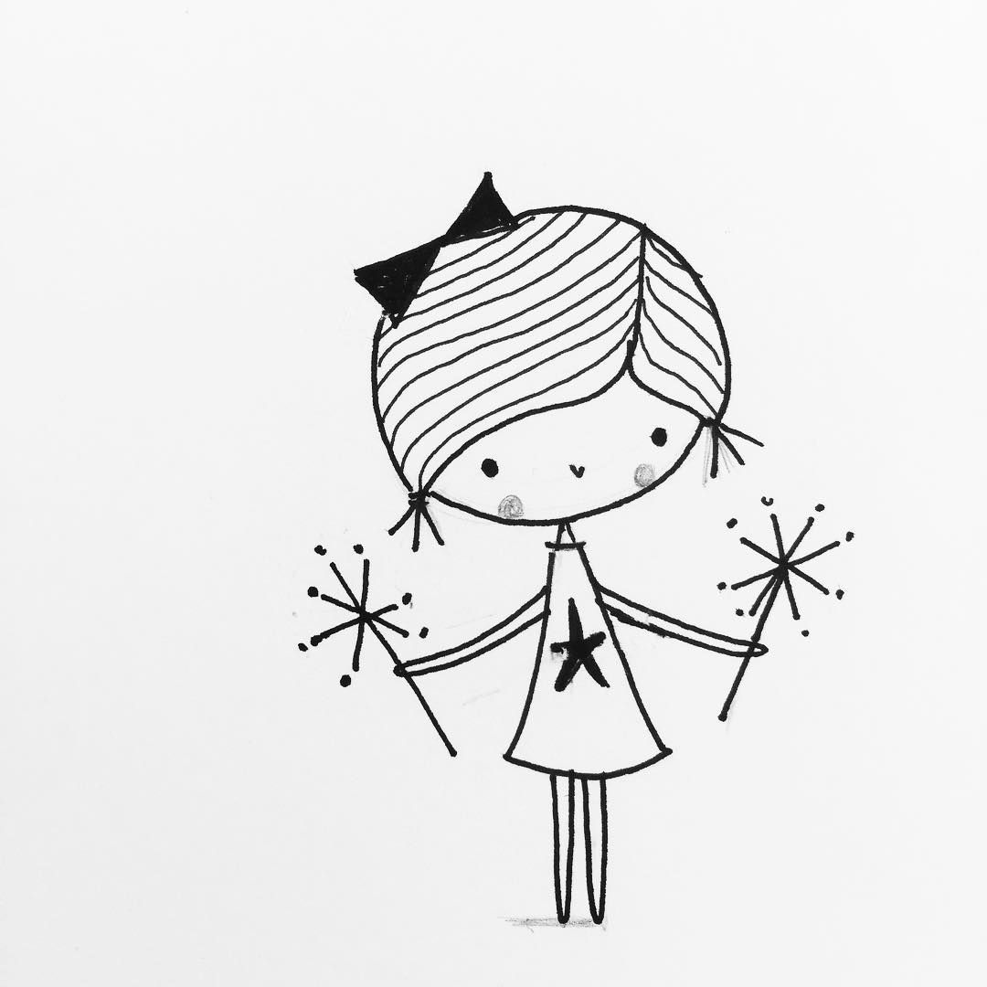 Sparklers The100dayproject 100daysofgirldoodles Sparklers