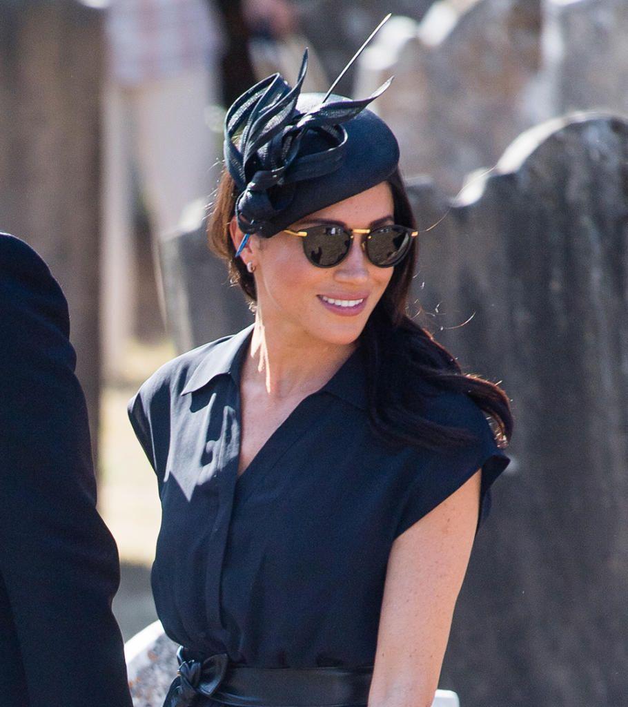 968cb44b5a Linda Farrow Gold Tone Sunglasses-Meghan Markle - Dress Like A Duchess