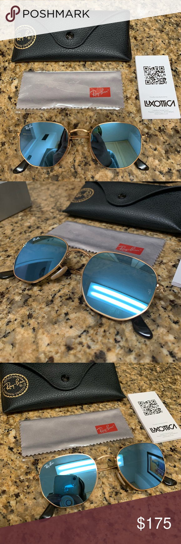 0b7c9aaf08e NEW Rayban HEXAGONAL FLAT LENSES Sunglasses BRAND NEW    NEVER TOUCHED OR  WORN RAYBAN HEXAGONAL