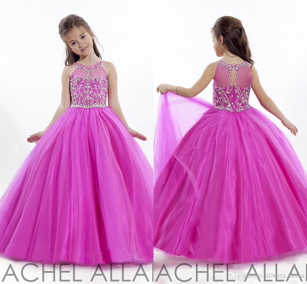 Princess wedding toddler fuschia 2016 pageant ball gowns flower girl princess wedding toddler fuschia 2016 pageant ball gowns flower girl dresses formal long cheap for little girls dress crystals cheap girls party d izmirmasajfo