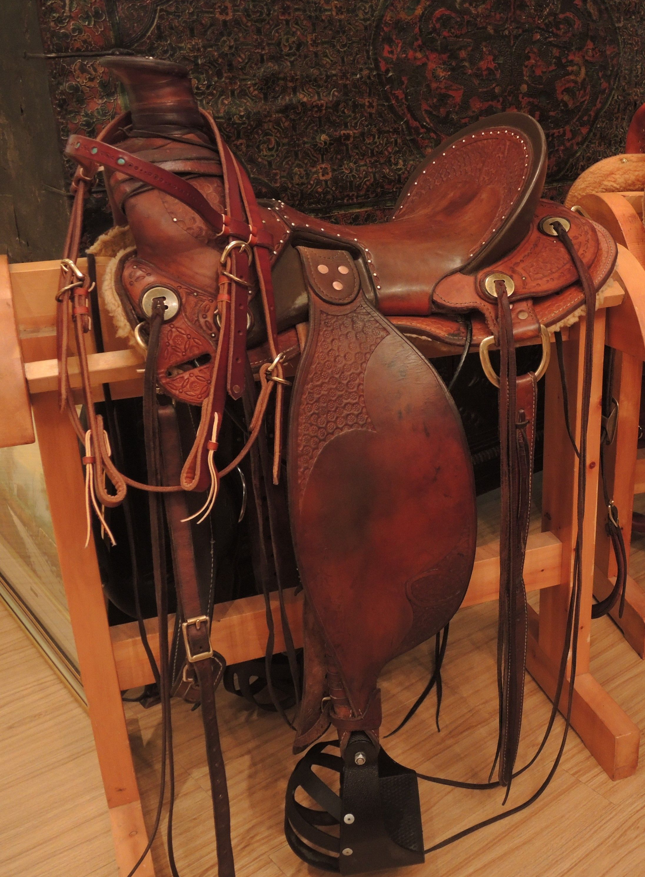 Lightweight Saddle By Stone Horse Saddles Exhibited In An Ulaanbaatar Mongolia Art Gallery Stone Horse Sadd Saddles Barrel Racing Saddles Western Saddle