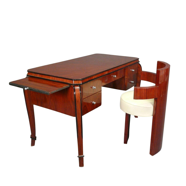 Bureau Art Deco En Acajou Meubles Art Deco Art Deco Mobilier D Art