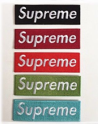 5 Supreme patch Logo patch Embroidered patch iron on or sew on patch  Applique 1539b142ef70