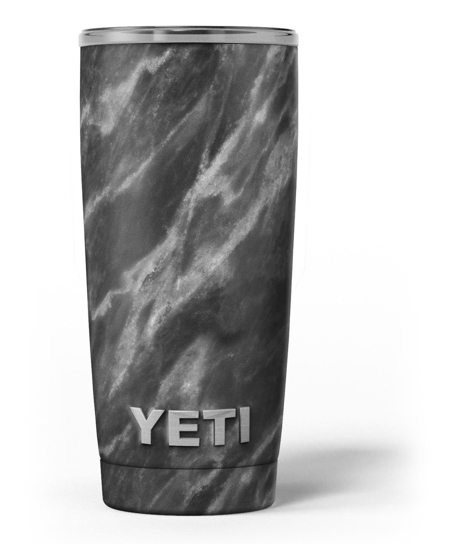 Black and Chalky White Marble Yeti Rambler Skin Kit Yeti