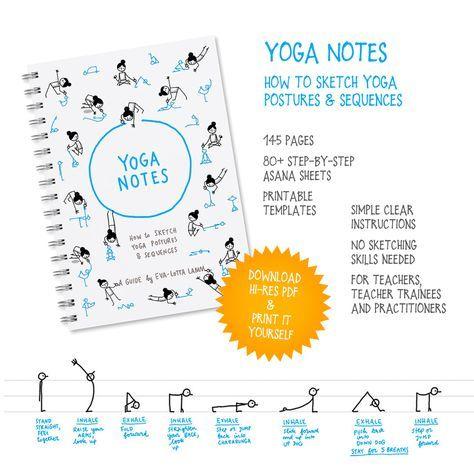 yoganotes  how to sketch yoga postures and sequences  e