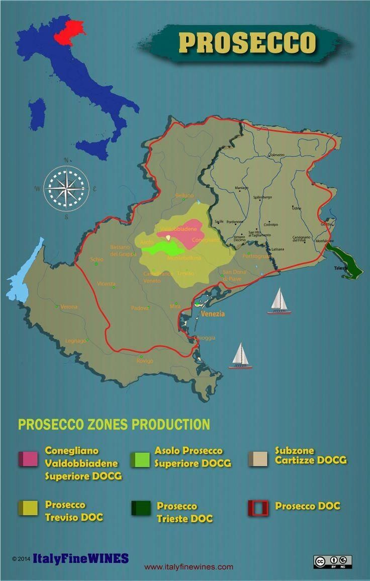 A Map Of All Prosecco You Can Download It At Www Italyfinewines
