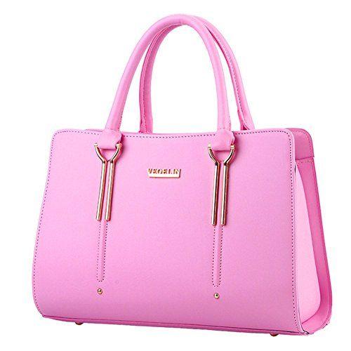 KaiSasi 2016 New Bag Female Stereotypes Sweet Lady Fashion Handbag Messenger Shoulder Bag(Pink) * Click image for more details.