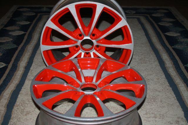 Powder Coating Two Tone Rim Wheel Powder Coat Paint