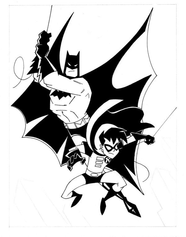 animated batman and robin by popstata coloring 4 kids dc super hero s pets pinterest